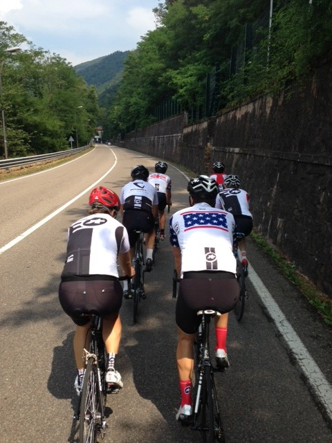 A Spin w/test team boys around Lugano