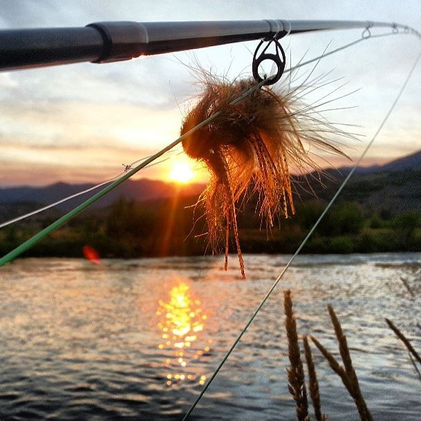Sunset streamers on the Provo River