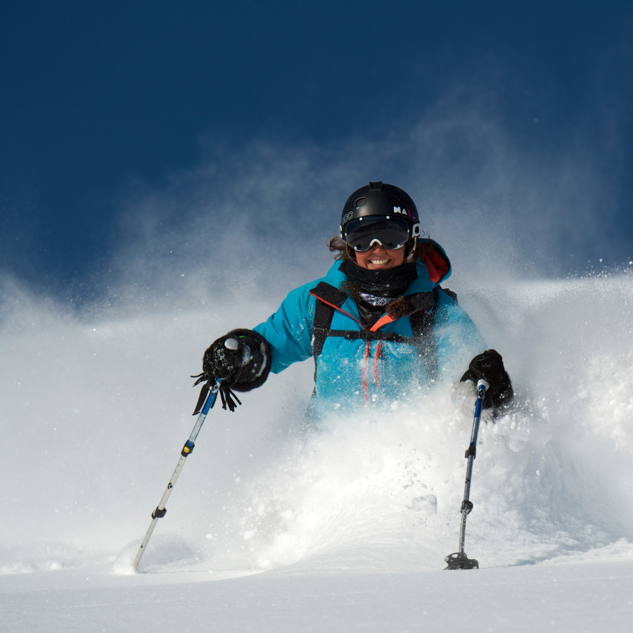 Freeskier Nat Segal loving the pow