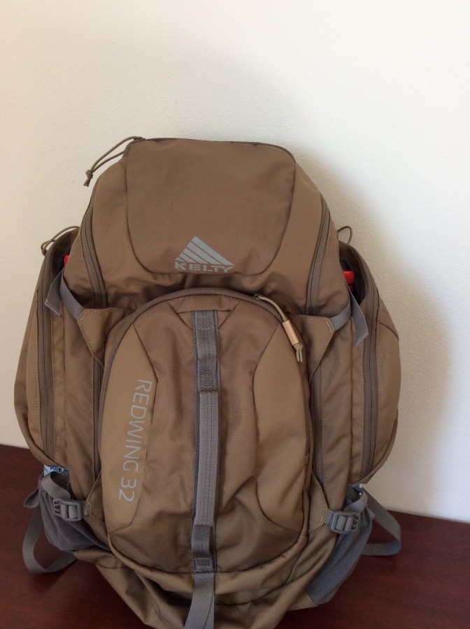 Pack with large bottles in side pockets