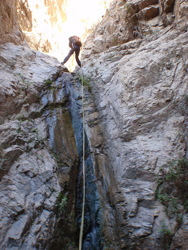 Canyon tech in Rubio Canyon