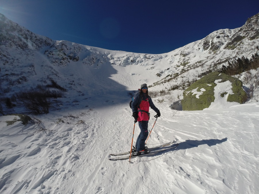 Ski touring up Mt. Washington