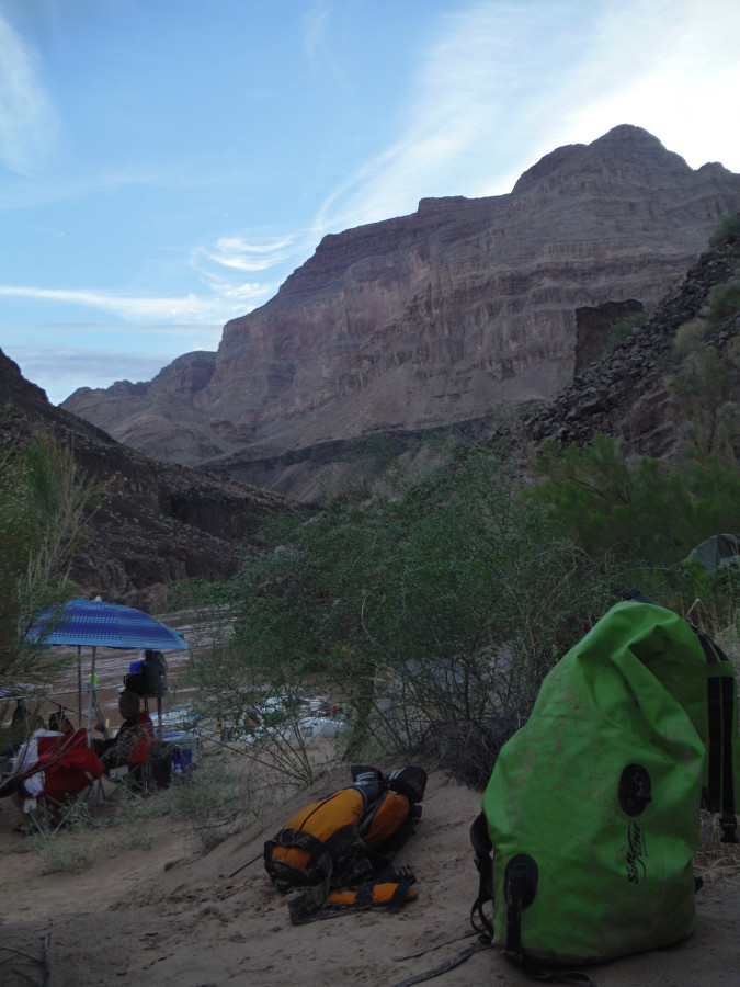 Boundary pack on the Grand Canyon