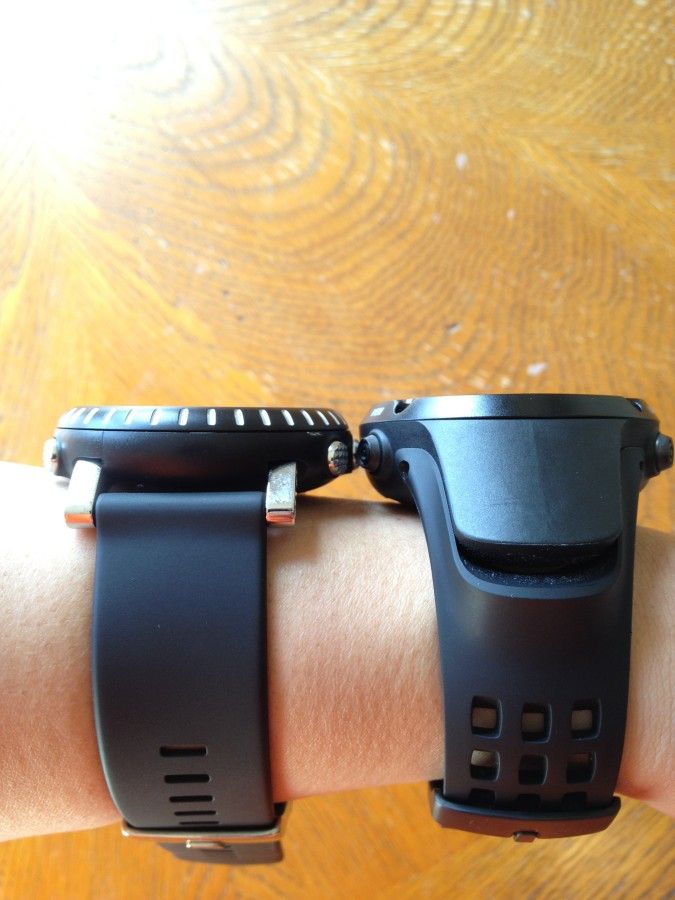 Core vs. Ambit (on wrist)