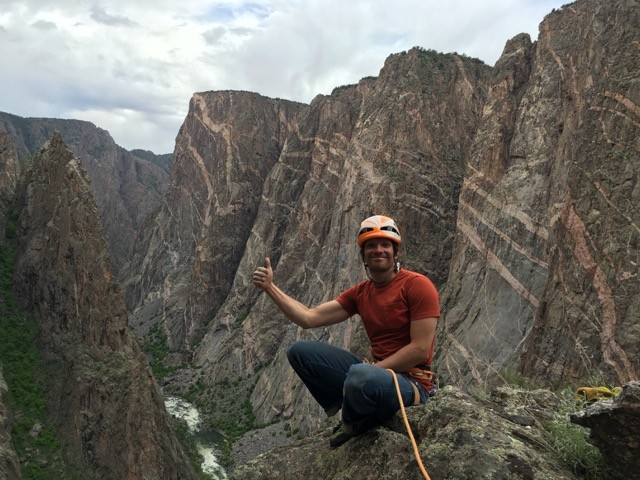 Climbing in the Black Canyon