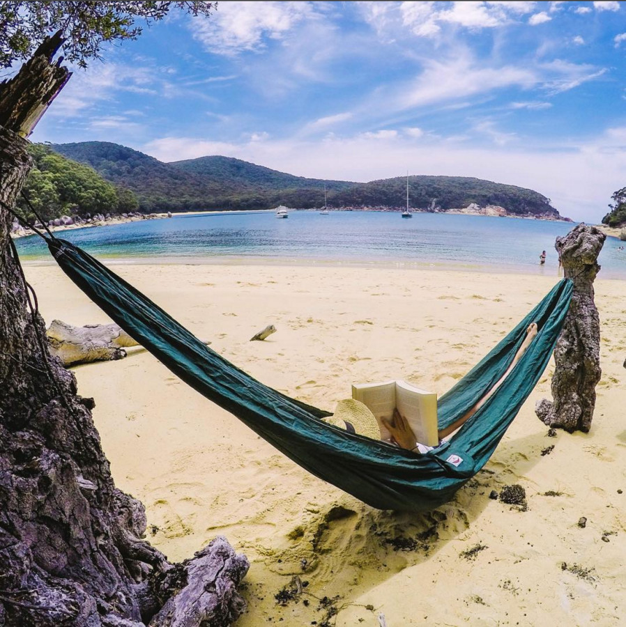 Hammock Bliss Single Green On The Beach