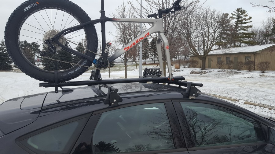 Great Fat Bike Roof Mounting Option