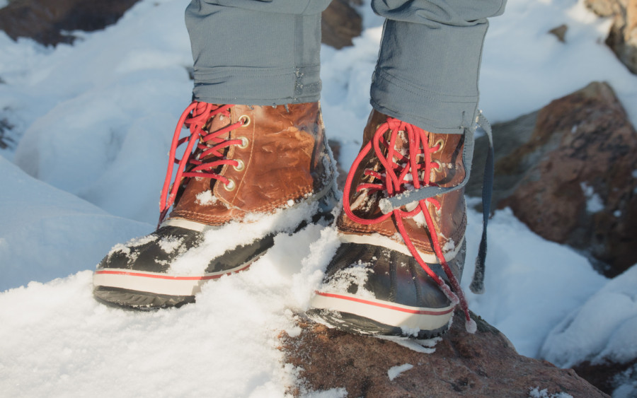 Stylish snow boots