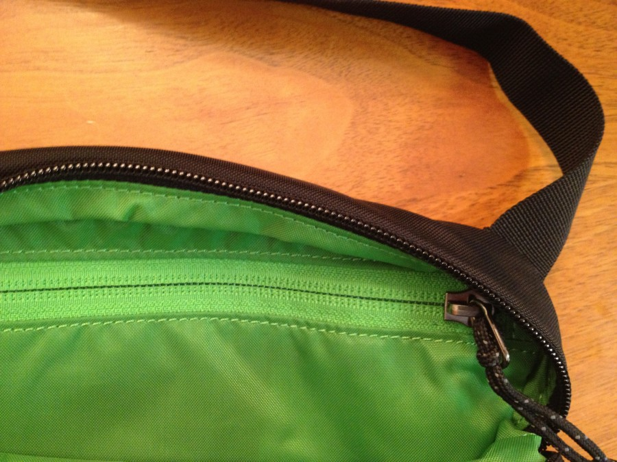 Zippered inner compartment